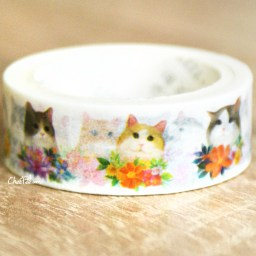 boutique-kawaii-shop-chezfee-fourniture-papeterie-washi-masking-tape-chat-fleur-2