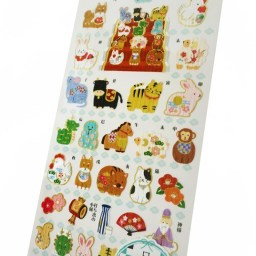 boutique-kawaii-shop-chezfee-papeterie-japonaise-stickers-autocollant-culture-animaux-du-zodiaques-2