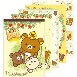 boutique-kawaii-shop-chezfee-sanx-officiel-rilakkuma-miel-abeille-carnet-illustre-1