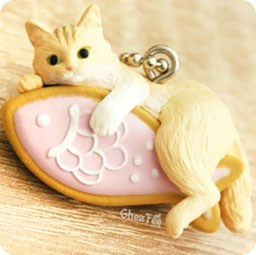boutique-kawaii-shop-cute-chezfee-gachapon-france-straps-porte-clef-neko-cafe-chat-biscuit-rose