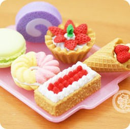 boutique-kawaii-shop-france-chezfee-cute-papeterie-gomme-eraser-iwako-japon-food-dessert