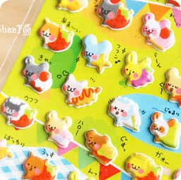 boutique-kawaii-shop-france-chezfee-sticker-japonais-3d-animaux-gateaux