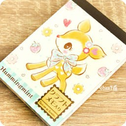 boutique-kawaii-shop-papeterie-chezfee-sanrio-authentique-hummingmint-foret-biche-carnet