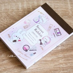 boutique-kawaii-shop-papeterie-japonais-chezfee-kamio-japan-memo-carnet-cosmetique-secret-rabbit-1