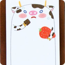 sticky-note-kawaii-animal-mignon-debout-magasin-papeterie-chezfee-vache
